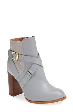 Free shipping and returns on Topshop 'Aroma' Ankle Boot (Women) at Nordstrom.com. Reptile-embossed straps embellished by gleaming hardware wrap around a leather ankle bootie set on a chunky, stacked heel.
