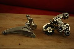 Shimano DURA ACE 7200 Front + Rear derailleurs - Vintage 1980's Nice shape | eBay Vintage Bike Parts, Bicycle Parts, Road Bikes, Pulley, Nice, Bicycles, Shape, Accessories, Ebay
