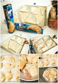 Parmesan Ham and Swiss Crescent Roll Recipe: Easy, quick, and family favorite. #pillsbury #dinner