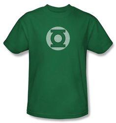 Green Lantern Superhero Kids T-shirt - GL Little Logos Kelly Green Tee Youth, Toddler Medium (5/6)