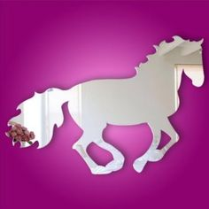 Amazon.com: Kids Acrylic Mirror Horse Wall Decal or Wall Sticker: Home & Kitchen