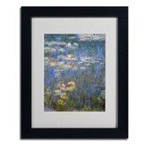 "Found it at Wayfair - ""Water Lilies IV 1840-1926"" by Claude Monet Matted Framed Painting Print"