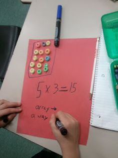 Cute idea for teaching arrays!