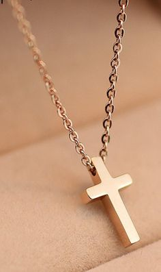 Gold gilded cross necklace 13508