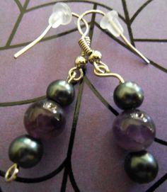 Purple Widows Eggs earrings