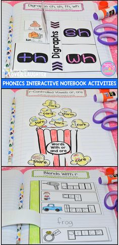 First Grade Phonics Interactive Notebook