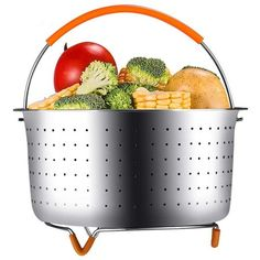 GEOTEL FDA Approved Steamer Basket for Instant Pot 6 Quart Instant Pot Accessories, Stainless Steel Steamer Basket with Silicone Handle and Non-Scratch Legs,Great for Steaming Vegetables QT) Pressure Cooker Reviews, Instant Pot Pressure Cooker, Best Steamer, Steamed Vegetables, Cooking, Healthy, Steamer Baskets, Legs, Handle