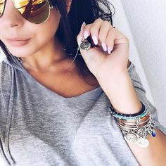 T I A N N A    ALEX AND ANI (@happytiannavibes) •necklace   bangles   anchor   summer