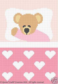 Crochet Patterns-SWEET DREAMS BABY GIRL BEAR Pattern