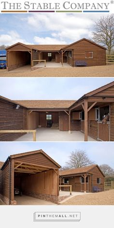 U Shaped Stable in Location: Worcestershire by The Stable Company Dream Stables, Dream Barn, Horse Stables, Horse Farms, Horse Barn Designs, Barn Layout, Horse Barn Plans, Horse Shelter, Small Barns