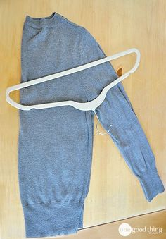 No More Shoulder Bumps! How To Hang-Fold Your Sweaters - One Good Thing by Jillee