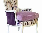 Purple Rain Upholstered French Bergere Chair