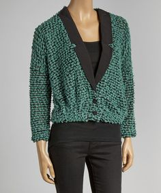 Love this Mint Popcorn Blazer Sweater on #zulily! #zulilyfinds