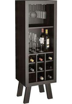 Adega Tecno Mobili AD5000 Tabaco - Compre Agora | Dafiti Brasil Bar Cabinet Furniture, Home Bar Cabinet, Liquor Cabinet, Home Furniture, Wine Rack Design, Wine Cellar Design, Wood Wine Racks, Wine Rack Wall, Wine Stand