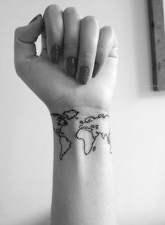 My world map tattoo before shading tattoo world travel my world map tattoo before shading tattoo world travel beeaautiful tattoos pinterest gumiabroncs Images