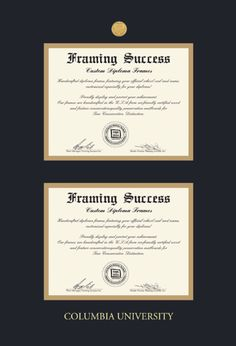 custom satin black document certificate frame black on gold mat