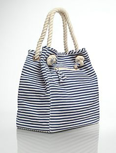 Rope-Handle Striped Tote #Talbots #Beach Collection