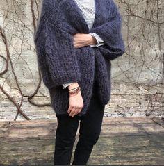 Chunky mohair kimono sweater by Patkas Berlin