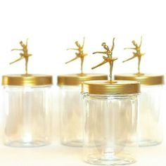 These sweet jars are easy to make and provide excellent storage for small items like hair accessories.