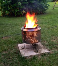 Our DIY fire-pit made from a washer drum