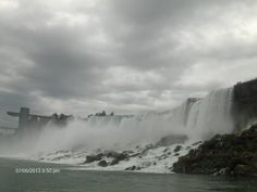 Spectacular view of the American Falls from the Maid of the Mist.