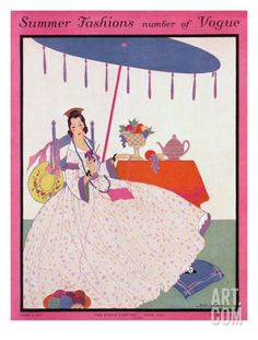 Vogue Cover - June 1915 Regular Giclee Print by Helen Dryden at Art.com