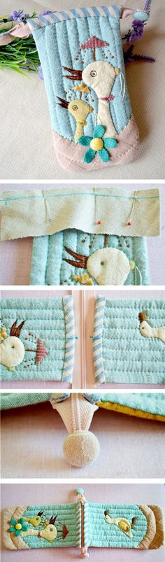 Quilted iPod/Phone Holder. Fabric Phone Case. Photo Sewing http://www.handmadiya.com/2016/02/quilted-phone-case-diy.html