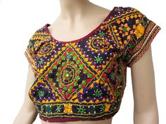 Kutch Style Black Choli  http://www.curiotown.com/home/1036-kutch-style-black-choli.html  A perfect ethnic work in black color cotton blouse is decorated with kutch embroidery thread and little mirror sequins.Stitched blouse with full embroidery work to give you a beautiful traditional look. Team it with a light color saree for a decent and stylish look.  Price : 1400/- Product Code: CT/BHU6  Available: @www.curiotown.com