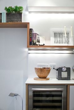 Installing lights under cabinets can brighten up an otherwise small, dark area.