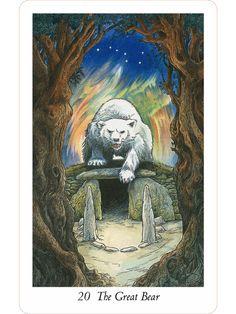 """20 The great bear -   - """"Wildwood Tarot"""" Illustrator Will Worthington, and Mark Ryan, John Matthews (Authors)."""