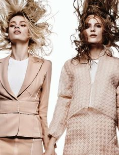 The Harper's Bazaar Korea Welcome to Spring Photoshoot is Sisterly #Sibling #Photography trendhunter.com