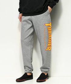 b9d394af Thrasher Flame Grey Sweatpants