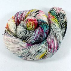 Hand Dyed Sock Yarn  SW Sock 80/20  Superwash by SpunRightRound, $24.00