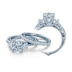 Verragio Venetian .65tw diamond engagement ring in 14k white gold,  Style