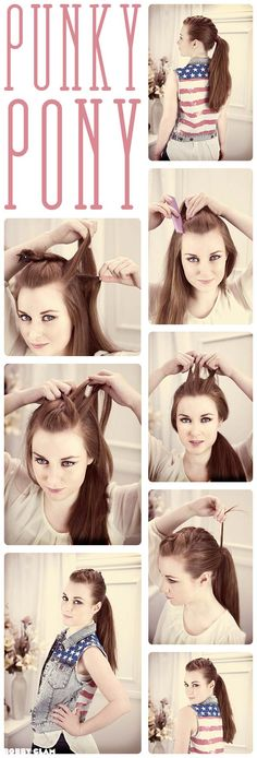 Punky Ponytail Hair Tutorial