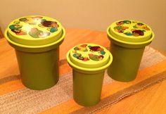 Rubbermaid Mushroom Canister Set of 3  Vintage by SimplyAgain
