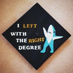 Pin for Later: 11 Clever Graduation Cap Ideas That Any Fan of the Internet Will Enjoy Left Shark
