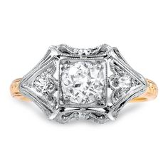 14K Yellow Gold, 14k White Gold The Catelyn Ring from Brilliant Earth