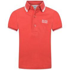 3d6a739ea6 BOSS Baby Boys Red Cotton Pique Polo Top Boss Baby, Ss16, Baby Boys,