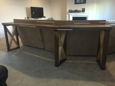 25 Best Bar Table Behind Couch Images Basement Ideas Bar Ideas