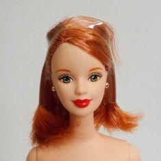 Barbie Nude November Birthstone Topaz Doll OOAK Mackie Face Auburn Hair