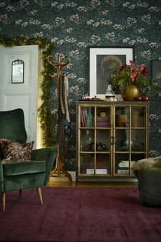 Inspiration home decoration for christmas in traditional green and gold Christmas Decorations, Table Decorations, Green And Gold, Furniture Decor, Cabinet, Living Room, Storage, Inspiration, Winter Solstice
