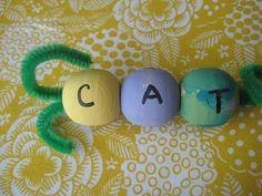 Bead Caterpillar Roll a word