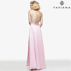 Stunning from every angle. http://www.faviana.com/catalog/dress-s7503