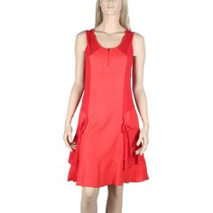 Robe en lin et coton Maloka couleur rouge -Rosine- - Mode-lin.com