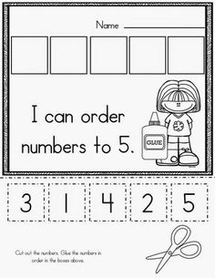 Beginning of kindergarten basic skills pack kids learning, learning numbers preschool, preschool cutting practice Numbers Preschool, Preschool Kindergarten, Teaching Math, Preschool Activities, Teaching Numbers, Numbers Kindergarten, Number Activities, Number Worksheets, Kindergarten Printable Worksheets