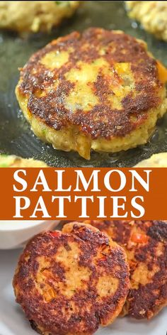 fish recipes This Salmon Patty Recipe is true, tested, and loved. The patties are crispy on the outside and tender on the inside. And you know what I love most about this recipe It is so, so, so easy to make. Cooktoria for more deliciousness! Fish Recipes, Meat Recipes, Seafood Recipes, Chicken Recipes, Dinner Recipes, Healthy Recipes, Healthy Chicken, Vegetarian Recipes, Seafood Appetizers