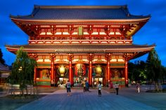 Kuil Sensoji Japan Travel, The Good Place, Mansions, House Styles, Places, Buildings, Nice, Fantasy, Manor Houses