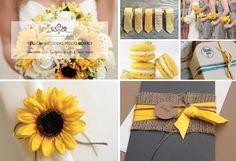 Week 12: Yellow Wedding Mood Board!  #week12 #weddingmoodboard #weekweddingmoodboard #yellow  #sunflowers  #destinationwedding