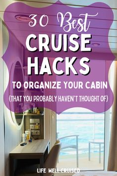 No matter which type of cruise cabin you have, you can make the most of it with some cruise hacks and organization tips. These awesome cruise tips and useful cruise accessories are genius! #cruisehacks #cruisetips #cruise #cruising